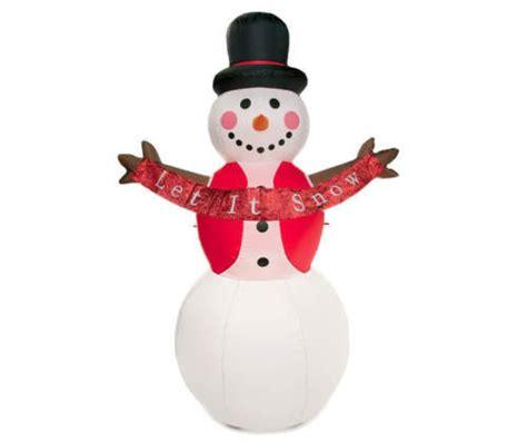 tis  season  inflatable snowman    snow