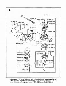 Carburetor Diagram  U0026 Parts List For Model 125bt Husqvarna