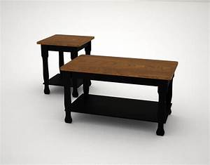 3d model farmhouse coffee table end With farmhouse coffee table and end tables