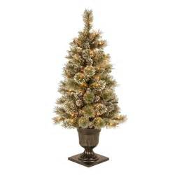 martha stewart 4 ft sparkling pine potted artificial christmas tree with 70 clear lights gb1