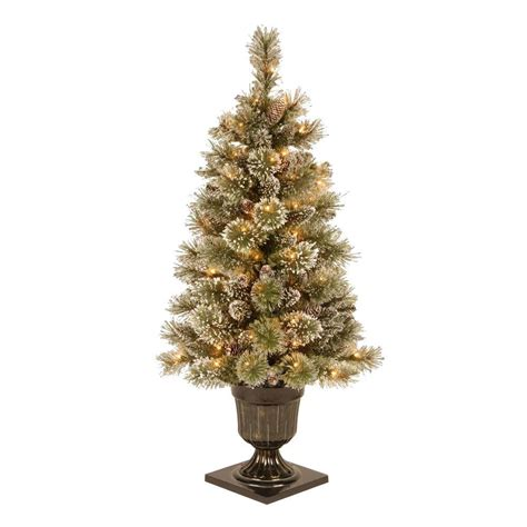 martha stewart 4 ft sparkling pine potted artificial