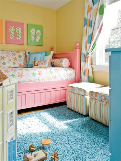 adorable pink  yellow girls bedroom ideas rilane