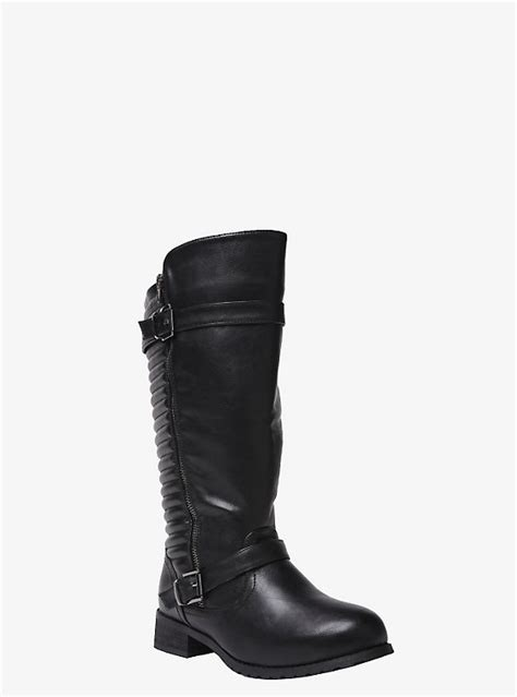 wide moto boots quilted back moto boots wide width torrid