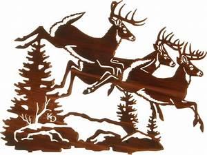 """Whitetail Deer Rustic Metal Wall Art 18"""" - Rustic"""