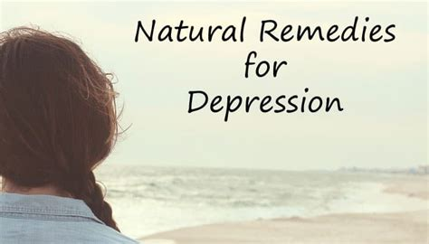natural remedies  depression   effective