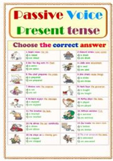 English Worksheets Passive Voice Worksheets, Page 31