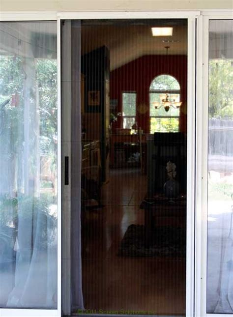 sliding glass door retractable screens retractable