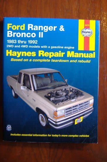 book repair manual 1989 ford tempo interior lighting 1983 1992 ford ranger bronco ii haynes auto repair manual