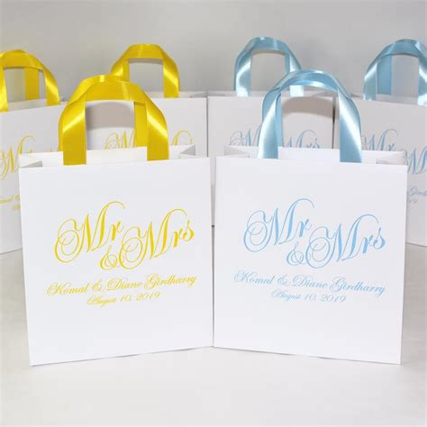 Find out what checked baggage allowance you can enjoy on your next flight with emirates and our partners. 35 Wedding Welcome Bags with Light Blue satin ribbon ...