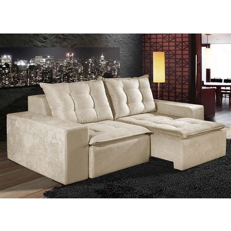 sofá retratil verde sof 225 2 lugares paropas evereste em tecido suede