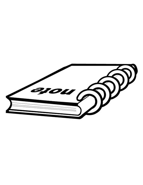 notebook clip art clipartsco