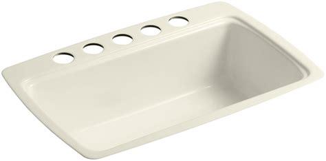 kitchen sink mounting kohler k 5864 5u 47 almond cape dory 33 quot single basin 5864