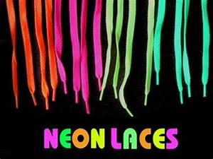 Neon Black Light Reactive Shoe Laces Pair Buy line