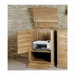 Mobel Solid Oak Home Office Furniture Printer Storage