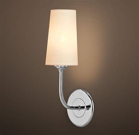 Rh Modern Bathroom Lighting by Rh S Modern Taper Sconce With Linen Shade Our Contemporary
