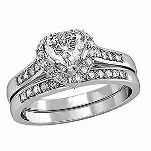 His hers 3 pcs tungsten matching band women heart cut for Wedding rings sets for women