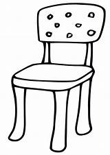 Chair Coloring Pages Print Chair6 sketch template