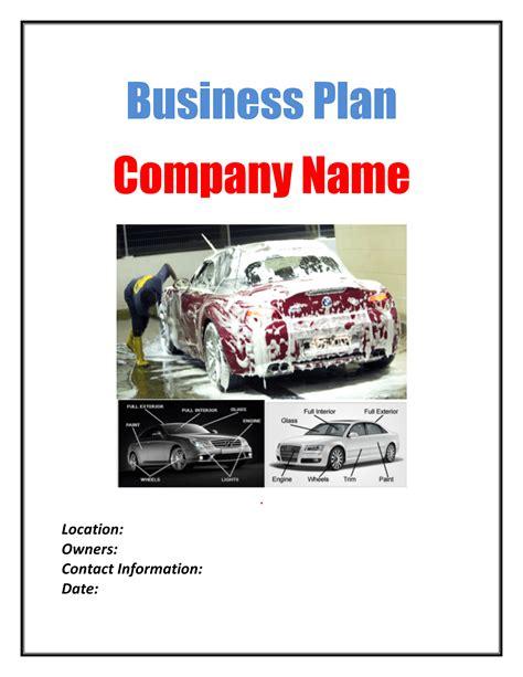 car wash business plan template plan sample pages black