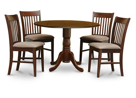 Kitchen Table 4 Chairs by 5pc Dinette Kitchen Dining Set Pedestal Table W 4