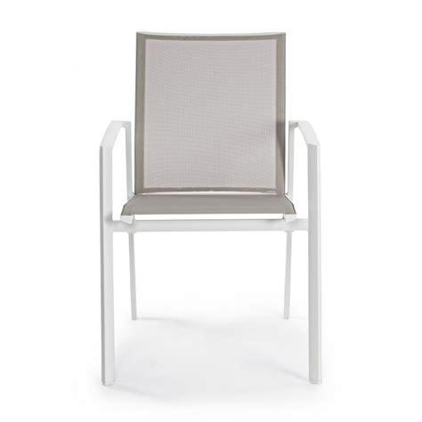 sedie bizzotto sedia da esterno cruise by bizzotto in alluminio impilabile