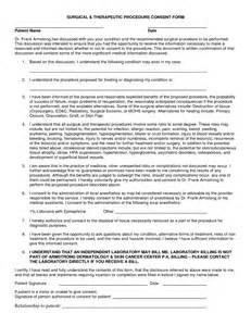Medical Procedure Informed Consent Forms