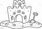 Castle Sand Vector Abstract Arts Culture Entertainment Craft Illustration Baby sketch template