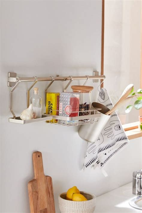 kitchen wall organizer space saving kitchen organizing