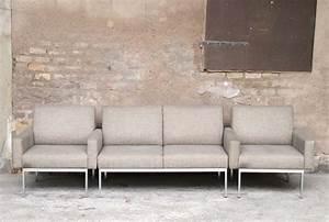 Ensemble Canapé Scandinave : ensemble canap et fauteuils vintage scandinave en tissu esprit knoll ~ Teatrodelosmanantiales.com Idées de Décoration