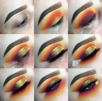 sunset cut crease   create  sunburst eye beauty