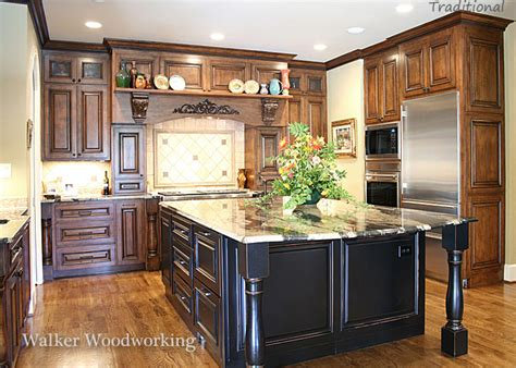 kitchens with different colored islands explaining traditional kitchen vs transitional kitchens 8789