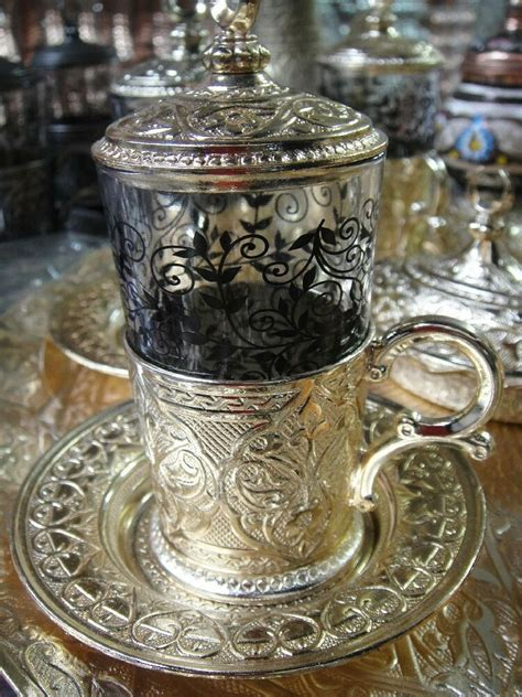 authentic turkish tea water sherbet serving cup glass