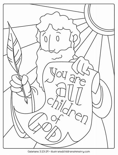 Bible Coloring Pages Story Illustrated Sheets Summer