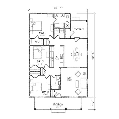 single floor plans single open floor plans small bungalow floor plans