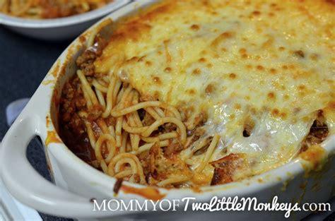 spaghetti casserole baked spaghetti casserole