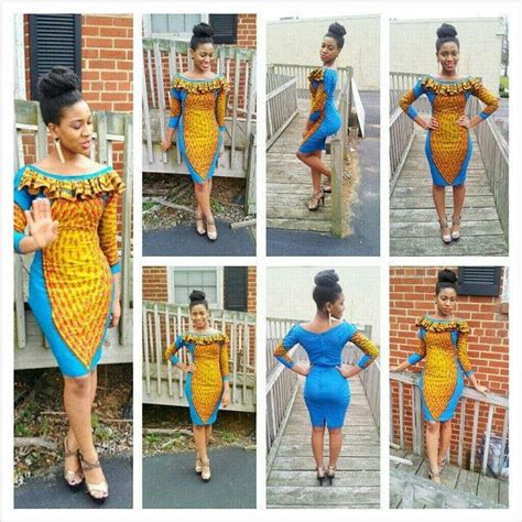 royal blue yellow african print dress styleestylee