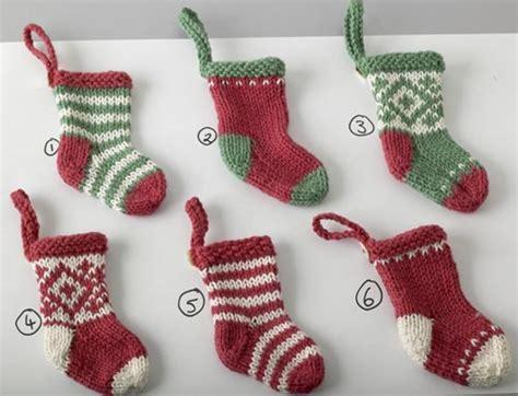 elins kreative side knitted mini - Christmas Mini Stockings