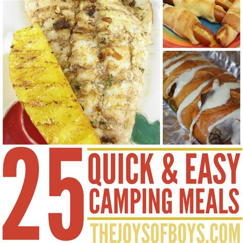 fast easy meals 15 fun cing activities for kids