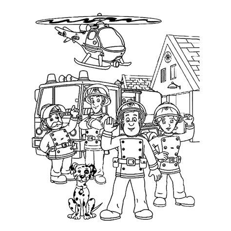 Brandweerman Sam Kleurplaat Titan by Leuk Voor Sam En Zijn Collega S
