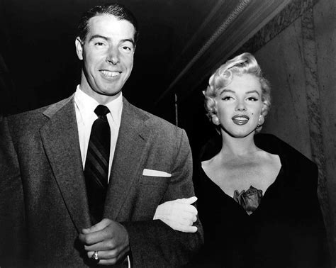 Image result for 1954 - Marilyn Monroe and Joe DiMaggio were married.