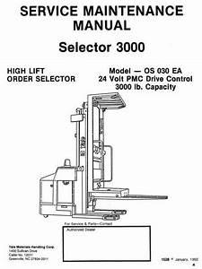 Yale High Lift Order Selector 3000  Os030ea Workshop