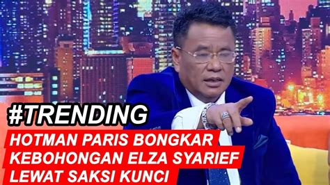 Hotman Paris Akui Elza Syarief Sudah Tahu Lawan Debatnya