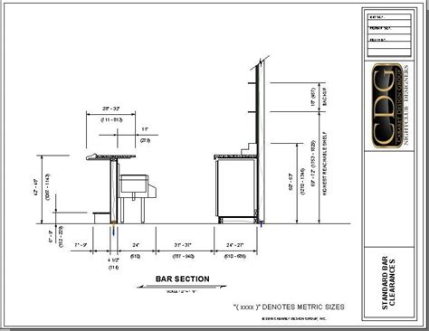 Basement Bar Measurements by Drawing Of Standard Ergonomic Bar Clearances Bar Design