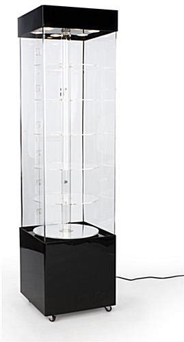 display cabinet with glass rotating display acrylic 72 quot height