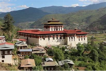 Bhutan Dzong Rinpung Paro Places Visit Tourism