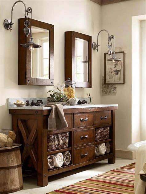 Decorating Ideas For Bathroom Vanities by 35 Best Rustic Bathroom Vanity Ideas And Designs For 2019