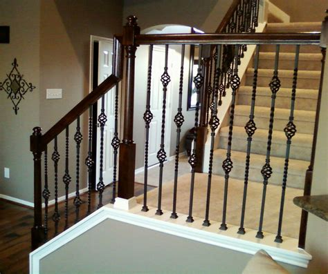 wrought iron banister iron balusters basket stair wrought iron baluster
