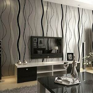 Luxury Grey Beige 3d TV Sitting Room Bedroom Wallpaper ...