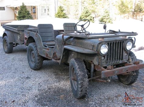 military jeep willys for sale 1952 willys m38 military jeep with m100 trailer rare