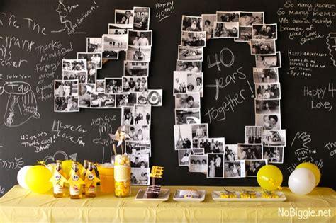 40th anniversary dessert table