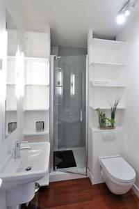 Salle De Bain Moderne Petit Espace : petite salle d 39 eau des am nagements bien pens s c t ~ Dailycaller-alerts.com Idées de Décoration